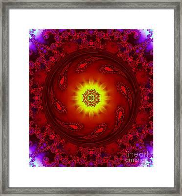 Sun/flower Mandala Framed Print by Elizabeth McTaggart