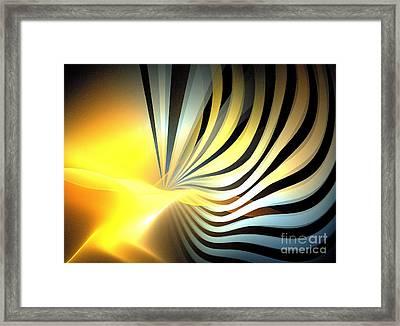 Sun Fronds Framed Print by Kim Sy Ok