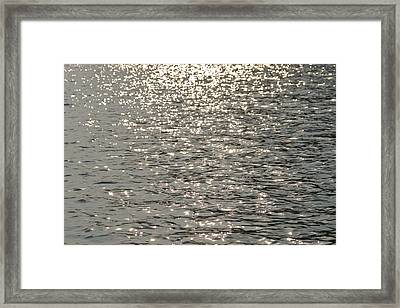 Sun Glitters On The Waters Surface Framed Print