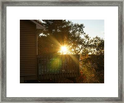 Sun Glow Before Sunset Framed Print by Lilia D