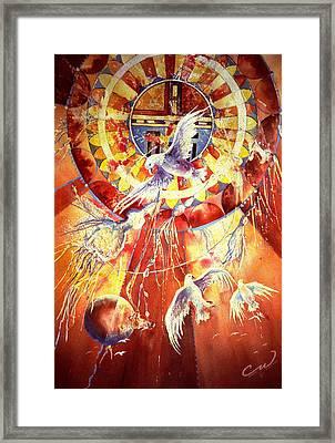 Sun God Framed Print by Connie Williams
