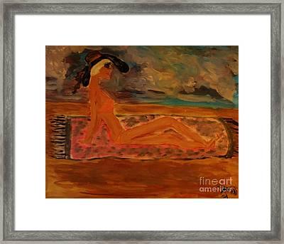 Sun Goddess Framed Print by Marie Bulger