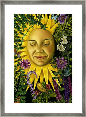 Sun Goddess Framed Print by Pamela Wells