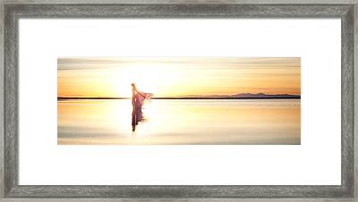 Framed Print featuring the photograph Sun Goddess Pano by Dario Infini