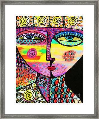 Sun Goddess Framed Print