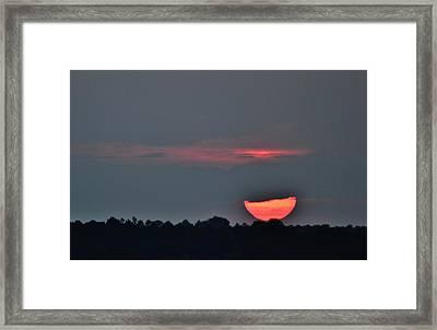 Sun Going Down Framed Print
