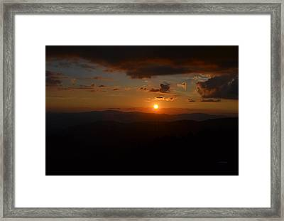 Sun Going Down Over The Great Smoky Mountains Framed Print