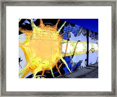 Sun Graffiti Framed Print by Cat Jackson