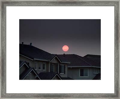 Sun Has Gone Dark Framed Print by Donna Blackhall