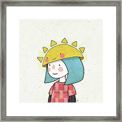 Sun Hat Framed Print by Carolina Parada
