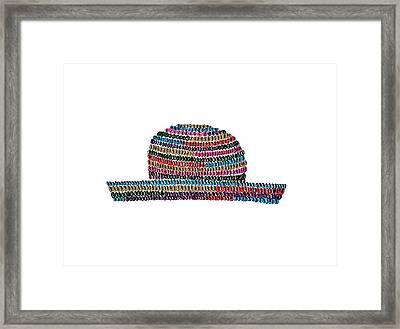 Sun Hat Illustration Framed Print by Sonja Taljaard