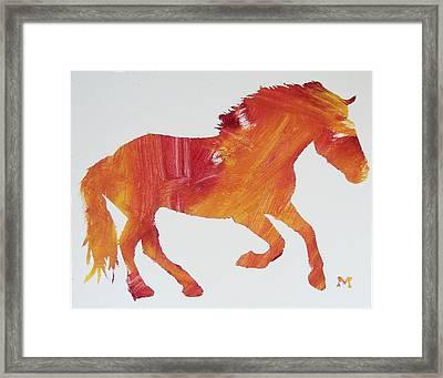 Sun Horse Framed Print