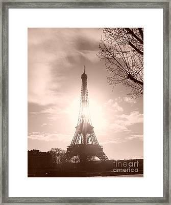 Sun In Paris Framed Print