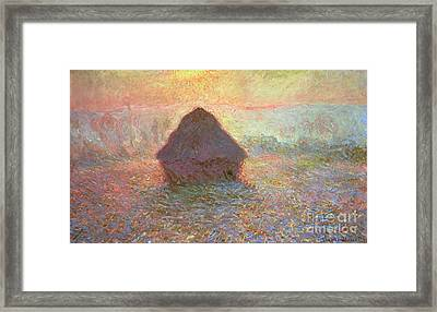 Sun In The Mist Framed Print by Claude Monet