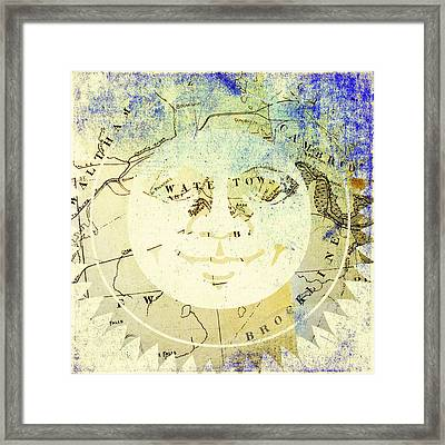 Sun In Watertown Mass Framed Print
