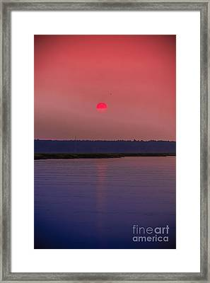 Sun Is Coming Down Framed Print
