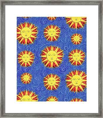 Sun King Pattern Framed Print by John Keaton