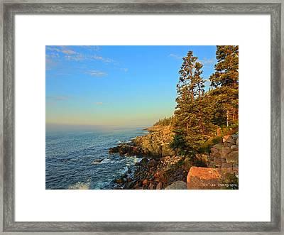 Sun-kissed Coast Framed Print