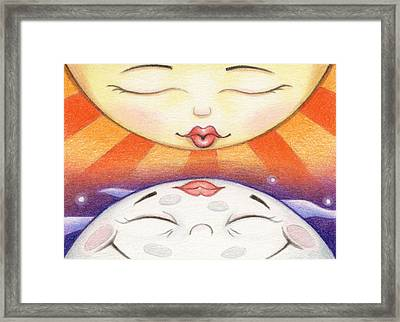 Sun Kissed Moon Framed Print by Amy S Turner