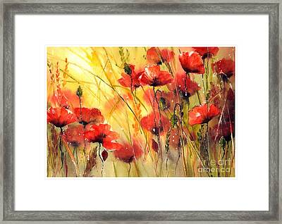 Sun Kissed Poppies Framed Print
