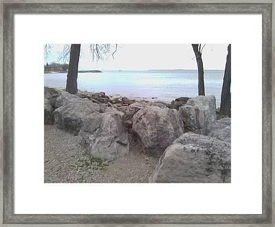 Sun Lake Framed Print by Jackie Bodnar