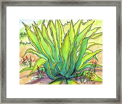 Sun Lover Framed Print by Nancy Matus