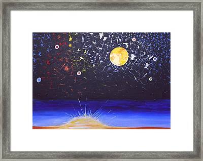Sun Moon And Stars Framed Print by Donna Blossom