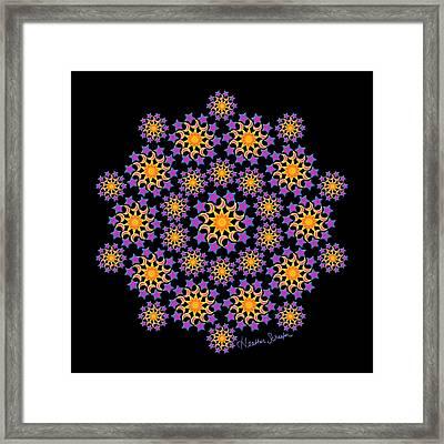 Sun Moon And Stars Framed Print