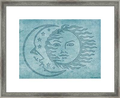 Sun Moon And Stars Framed Print