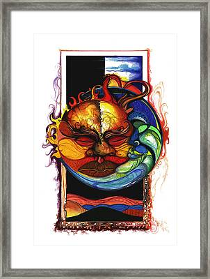 Sun Moon Framed Print by Anthony Burks Sr