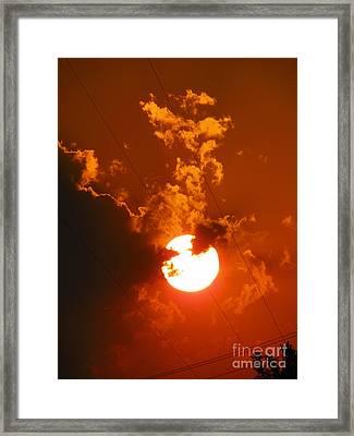 Sun On Fire Framed Print
