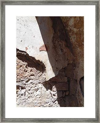 Framed Print featuring the painting Sun On Stone by Esther Newman-Cohen