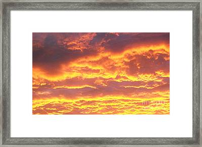 Sun On The Clouds Framed Print