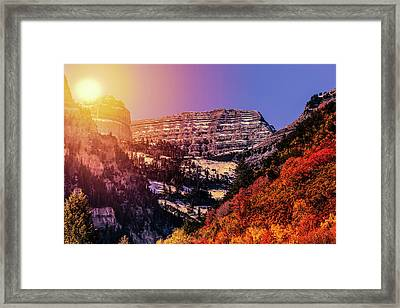 Sun On The Mountain Framed Print