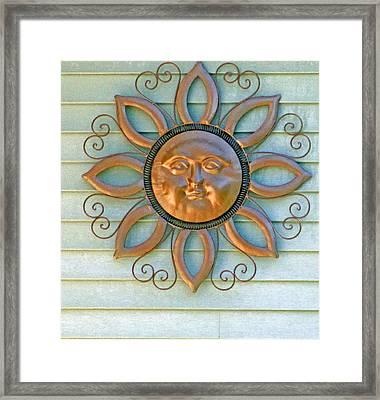 Sun Ornament Framed Print