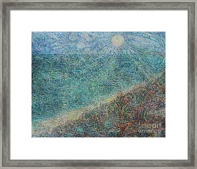 Sun Over The Azov Sea Framed Print