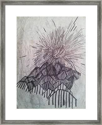 Sun Over The Smoky Mountains Framed Print