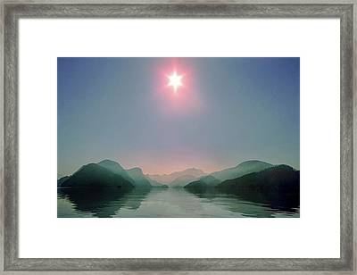 Sun Over Viner Sound Framed Print by Geoffrey Ferguson