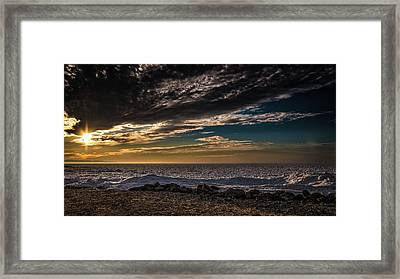 Sun Peeks Through Framed Print