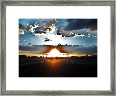 Sun-plosion... Framed Print by Paul Whitney