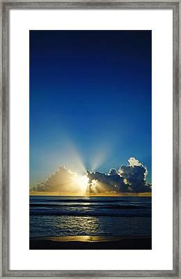 Sun Ray Sunrise Framed Print