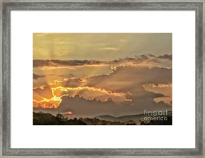 Sun Rays At Sunrise Framed Print by Thomas R Fletcher