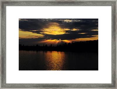 Sun Rays Over Solivita Framed Print