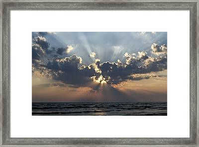 Sun Rays Framed Print by Peter Chilelli