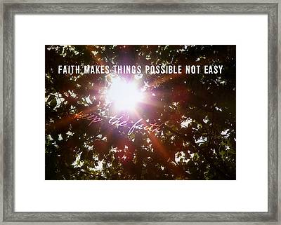 Sun Rays Quote Framed Print by JAMART Photography