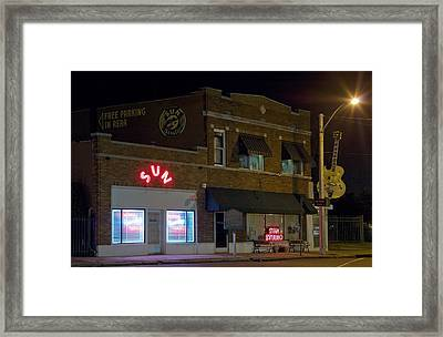 Sun Records Studio The Birthplace Framed Print