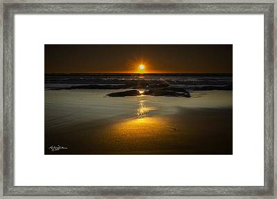 Sun Reflection Framed Print by Andrew Dickman
