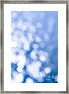 Sun Reflections On Water Framed Print