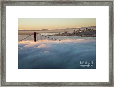 Framed Print featuring the photograph Sun Rise At Golden Gate Bridge by David Bearden