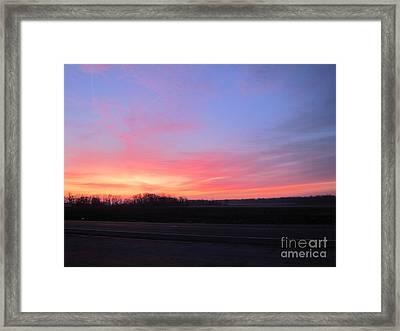 Sun Rise Framed Print by Susan Parsley